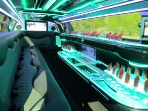 Chrysler 300 limo interior in Phoenix, Arizona
