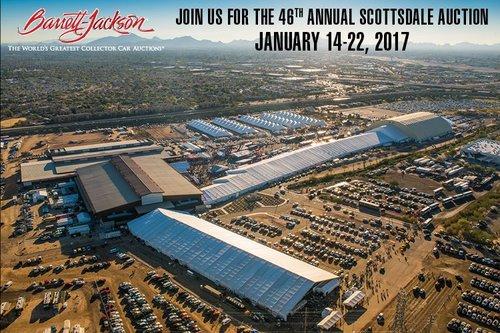 Barrett Jackson Scottsdale 2017 logo - transportation service