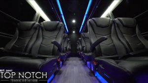 Interior of a corporate Sprinter - corporate transportation Phoenix